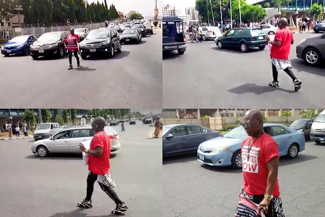 Charlyboy embarks on a one-man march to the presidential villa, in solidarity with the Bring Back Our Girls group