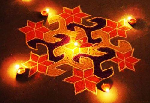 Simple Rangoli Designs for Diwali - सिंपल रंगोली डिजाइन फॉर दिवाली
