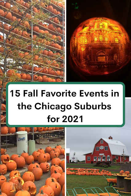 15 Fall Favorite Events for Families in the Chicago Suburbs in 2021 including pumpkins, corn mazes, glass art and more!