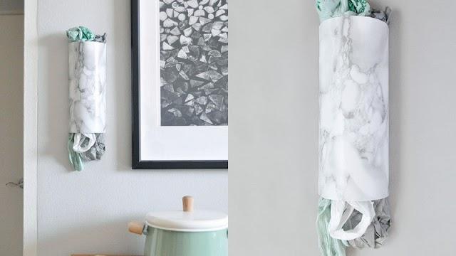DIY Θήκη για πλαστικές σακούλες από Χαρτόνι