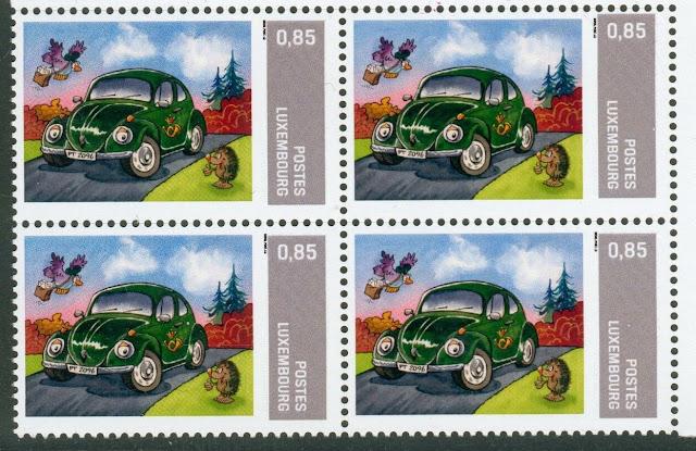 Volkswagen Beetle Luxembourg stamp