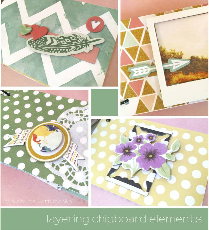 Layering Chipboard in your Mini Album | I Love It All