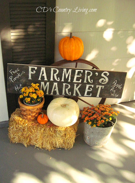 CD's Cottage- Fall Porch-Treasure Hunt Thursday- From My Front Porch To Yours
