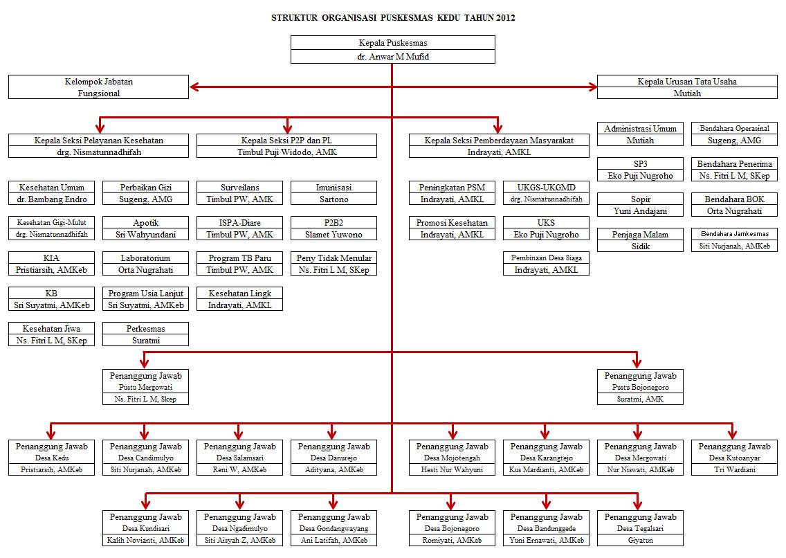 Puskesmas Kedu: Struktur Organisasi