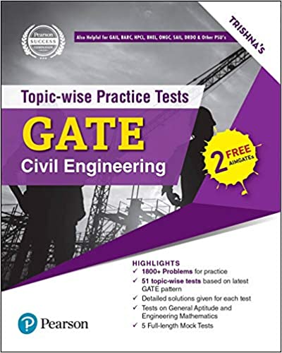 GATE (Civil Engineering): Topic-wise practice tests (including 5 full length Mock Tests)