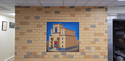 Grand Lodge of Maine. Master Architect Society. Mural by Travis Simpkins and Janet Simpkins