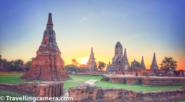 Related Blogpost from Thailand - Train Journey from Bangkok to Aayutthaya in Thailand    Going around the island in Ayutthaya you will see some of the town's most famous historical landmarks. The first temple on the South bank of the Pa Sak river off the historical island is Wat Phanan Choeng, which is popularly known for its 19 meter tall gilded image of the Buddha.    Related Blogpost : Chiang Mai Nightlife - Some of the best & diverse experiences in Thailand