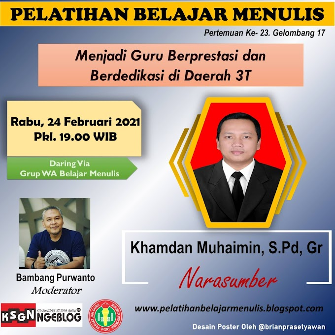 Pak Khamdan Guru Berprestasi dan Berdedikasi di Daerah 3T