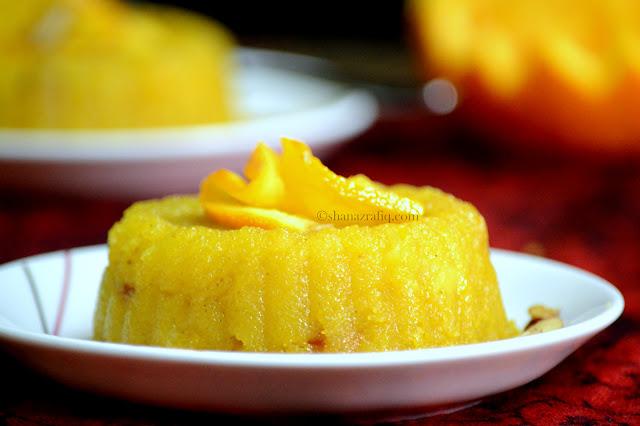 Orange Kesari Bhaath ~ Orange Sheera ~ Orange Suji Halwa