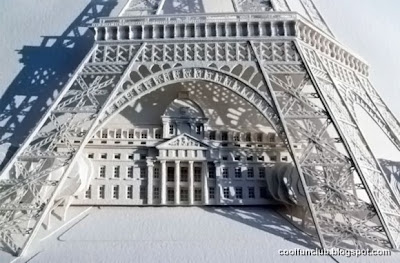Arte papel y Torre Eiffel