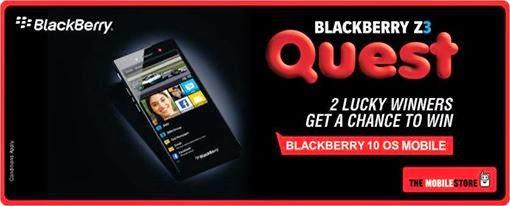 Contest !! BlackBerry Z3 Quest Win BlackBerry 10 OS Mobile