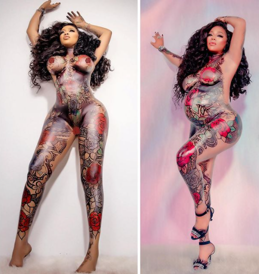 Toyin Lawani shows off her Pregnancy in new photos (Photos)