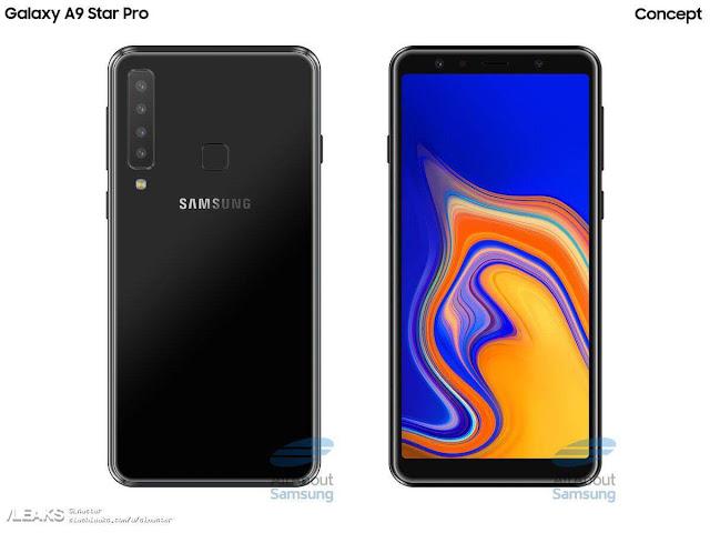 تسريبات حول اول هاتف بأربع كاميرات خليفة مقدم من سامسونج Samsung Galaxy A9 Star Pro