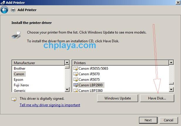 Hướng dẫn cách cài đặt Driver Canon LBP 2900 (bản 64bit trên laptop Windows 7) 4