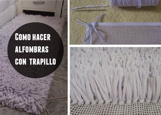 alfombra, camiseta, reciclar, telar, manualidades