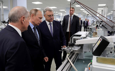 President Putin visit to the Izhevsk Electromechanical Plant Kupol.