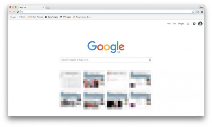 google chrome flatten design