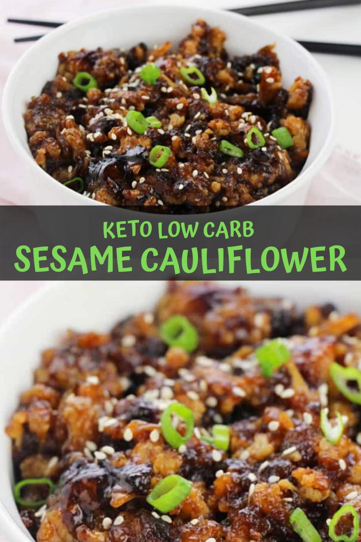 Keto Low Carb Sesame Cauliflower