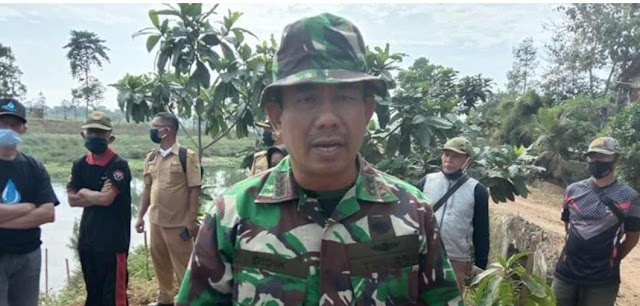 HUT Ke-75 TNI, Dansektor 6 Gelar Tanam Pohon Dibantaran DAS Citarum