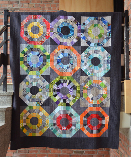 Octagonal Orb Quilt by Leanne of She Can Quilt, The Tutorial designed by Elizabeth Hartman of The Modern Quilt Guild