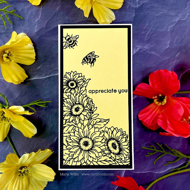 Cardbomb, Maria Willis,Tonic Studios,Tonic Studios Stamp Club,#tonicstudiosstampclub,stamps, cards, card making, paper, ink, papercraft, art, color, watercolor, inkblending,die cutting, flowers