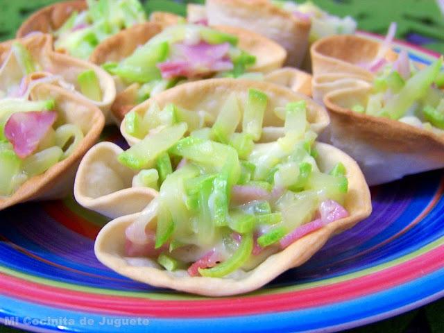 Tartaletas de Calabacín y Bacon
