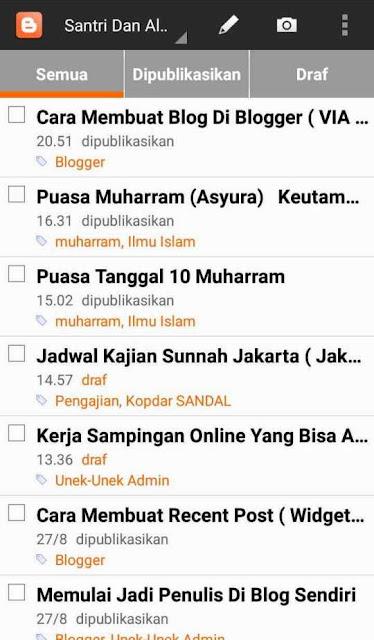 blogger dengan hp