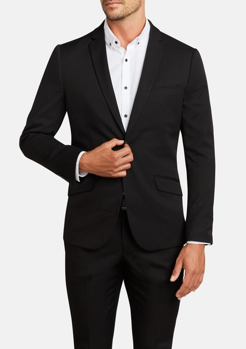 mens groomwear black jacket groomsmen wedding suit