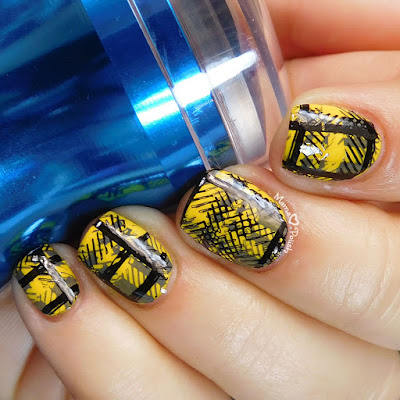 Hufflepuff-Pride-Nail-Art-Moonflower-Polish-Clear-Stamper-MoYou-London