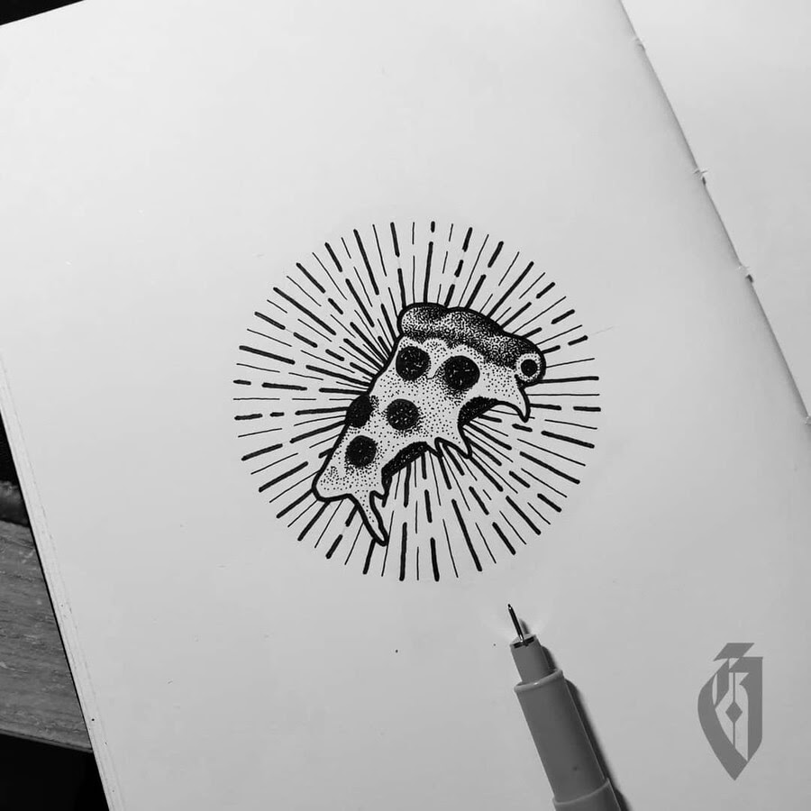 12-Pizza-Slice-Food-Art-bloopdots-www-designstack-co