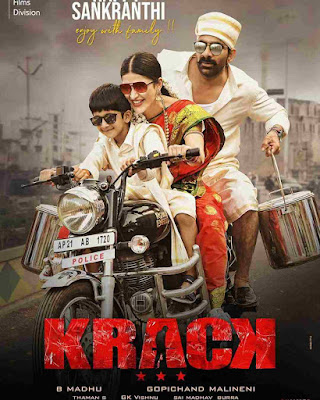 Krack (2020) New South Movie Star Cast, Release Date, Budget, Box Office, Movie Poster Download
