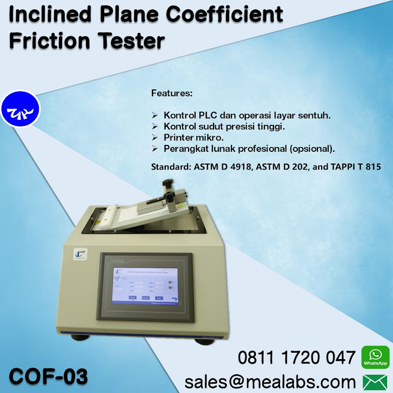 COF-03 Inclined Plane Coefficient Friction Tester