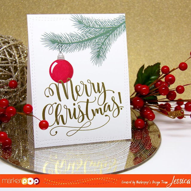 Sunny Studio Stamps: Holiday Style Christmas Card by Jessica Frost-Ballas