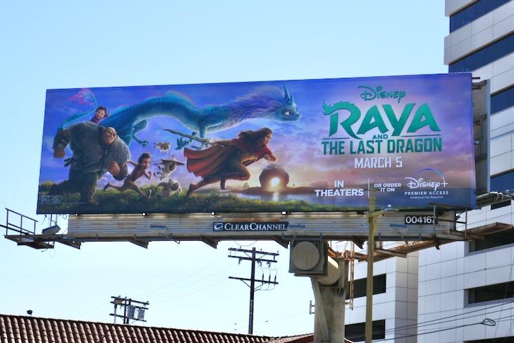 Raya and the Last Dragon movie billboard