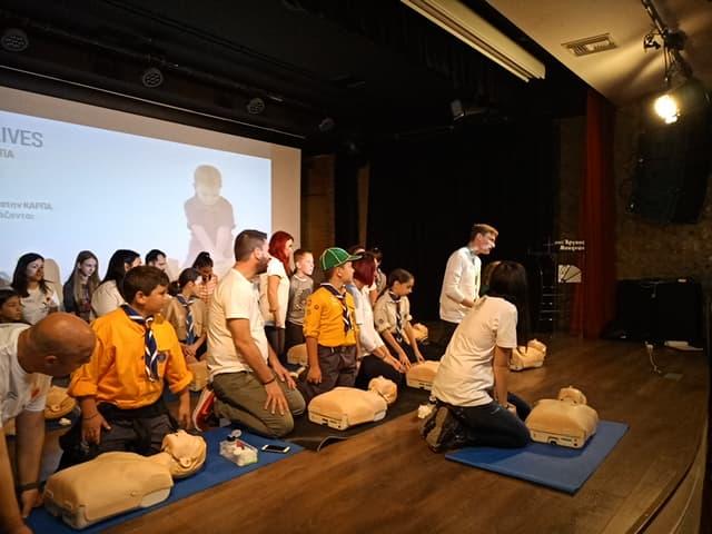Το 1ο Σύστημα προσκόπων Άργους συμμετείχε στο πρόγραμμα  KIDS SAVE LIVES