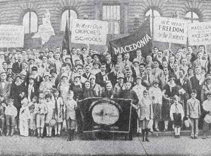 Mazedonier protestierten schon 1922 für ein unabhängiges Mazedonien