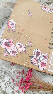 cherry blossom, cerezos, pagina de art journal, flowers, oriental, haiku, japan, japón,