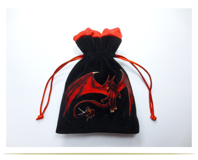 Magic the Gathering Dragon Dice Bag  |  9CoolThings.com