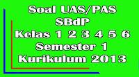 soal uas sbk kelas 1 2 3 4 5 6 sd semester 1 kurikulum 2013