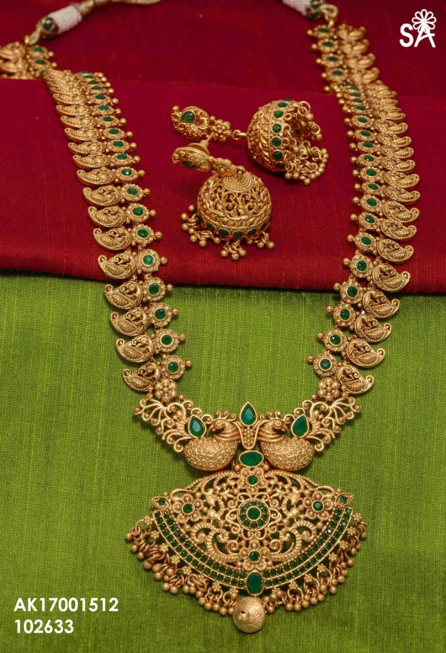 Long Mango Haram Online 1 Gram Jewellery Elegantfahionwear