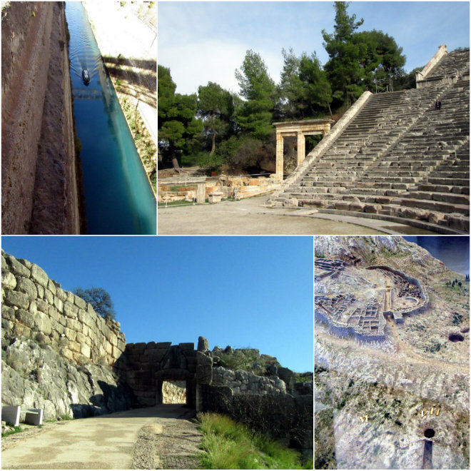 Athens, the ancient city of our past by Laka kuharica: Chorint channel, Epidaurus, Lion's Gate, Mycene