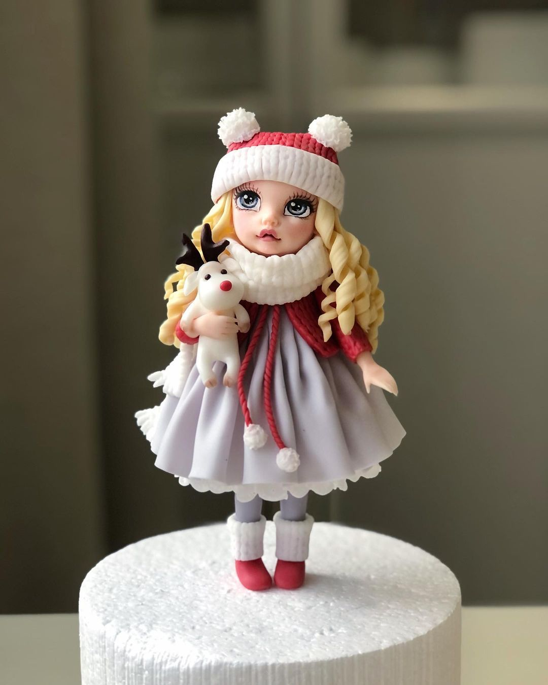 Beautiful winter barbie cake