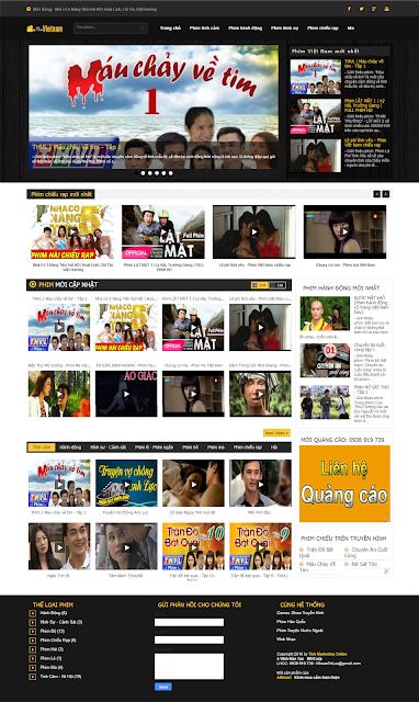 Bán Website xem phim Việt Nam, nghe nhạc trực tuyến giá rẻ nhất