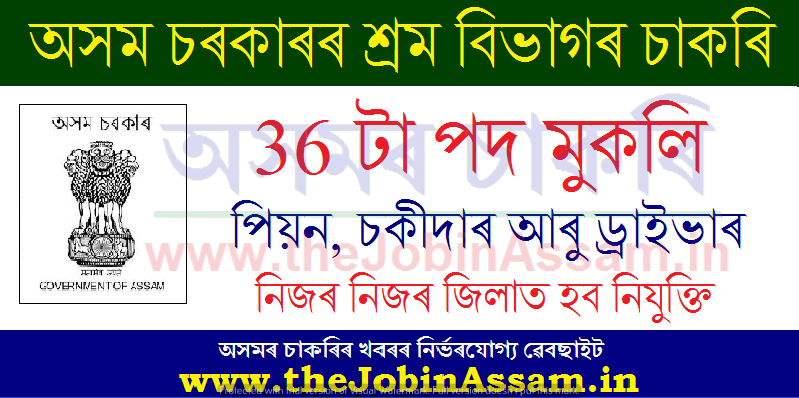 Commissionerate of Labour, Assam Recruitment 2021
