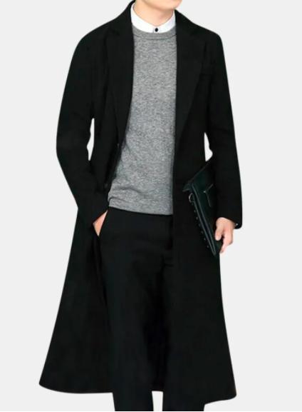 Long trench coat for men