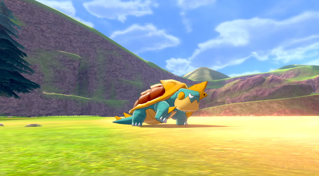 Pokémon Sword Shield Drednaw bite snapping turtle
