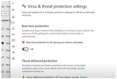 cara me-non-aktifkan antivirus bawaan windows 10 defender