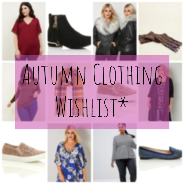 Autumn Clothing Wishlist collage - New Look, Yours, Asos