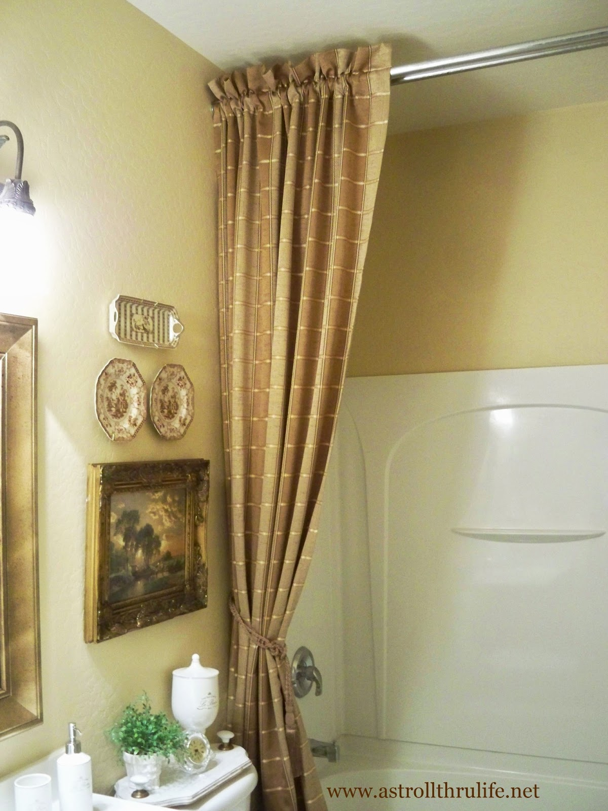 A Stroll Thru Life: Answers To How I Did The Shower Curtain