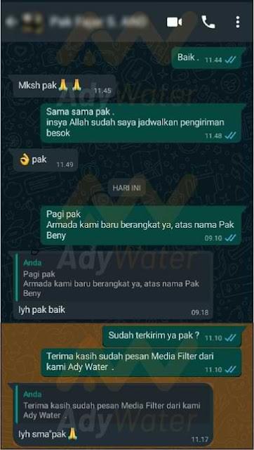 testimoni customer Ady Water